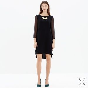 Madewell Dresses & Skirts - Madewell Sheer Sleeve Shift Dress