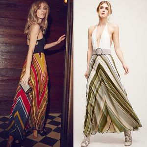 Free People Dresses & Skirts - FREE PEOPLE DANCE IN THE STREET MAXI Skirt GREEN