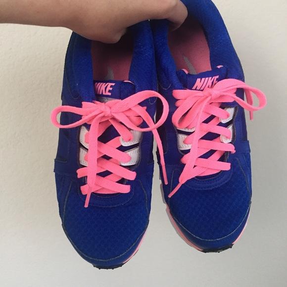 Nike Shoes - Like NEW Nike training shoes cobalt w neon pink