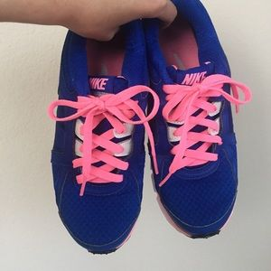 Nike Shoes - Like NEW Nike training shoes cobalt w neon pink