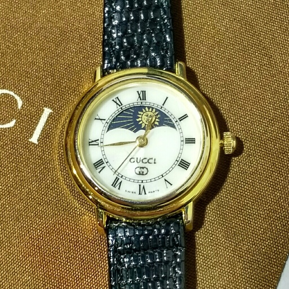 60b26b394aa Gucci Accessories - Gucci Sun   Moon Mother of Pearl   Gold Watch