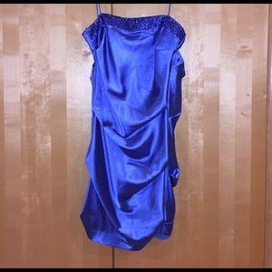 Ariella Dresses & Skirts - Blue ruffle dress