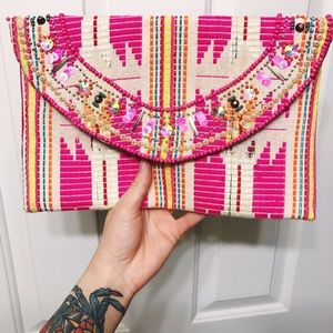 Handbags - Beautiful Beaded Brightly Colored Clutch