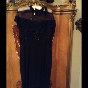 Beautiful Beaded Vintage Black Cache Dress
