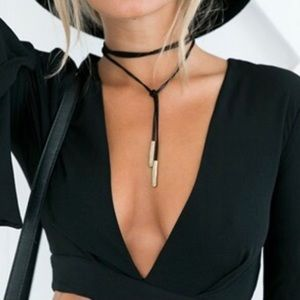 B-Long Boutique Jewelry - ❤️SALE❤️ black leather rope wrap choker necklace