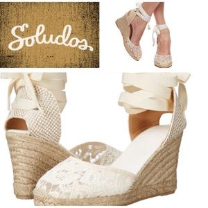 Soludos Shoes - Soludos Lacey Wedge Espadrilles/Ivo/sz 9