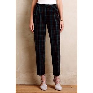 Cartonnier Kames Tapered Plaid Pants