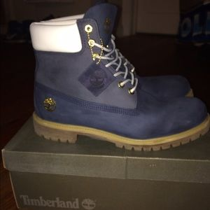 Timberland Other - Limited Edition Blue/Gold/White Timberlands