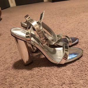 3e92c42f5ba Fashion Nova Shoes - Fashion nova simple and sleek silver heels NWOT