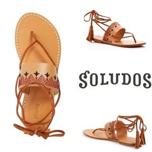 Soludos Shoes - Soludos Embroidered Sandal-NWOB/Tan/sz 7