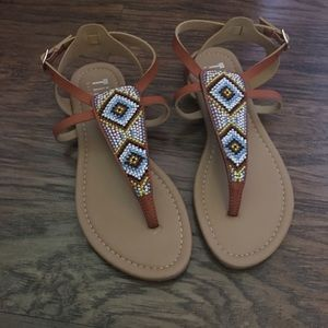 Cute Aztec brown sandals