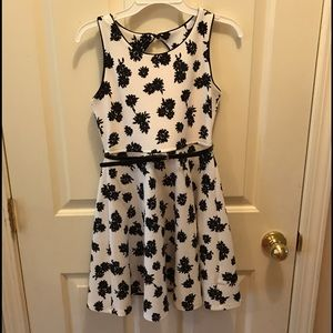 Pinky Other - Darling Black & White Dress with Cut-Out Back.