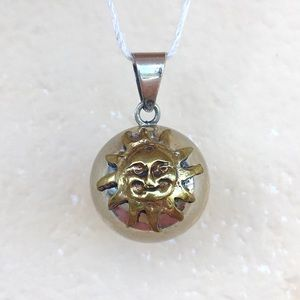 Jewelry - 🌞Sun Bell Chime Pendant Shiny Silver & Gold/Brass