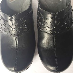 Dansko Shoes - Dansko Leather Cutout Swedish Clogs