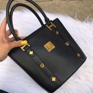 MCM Handbags - MCM MINI TOTE BLACK LEATHER BAG EVENING PURSE