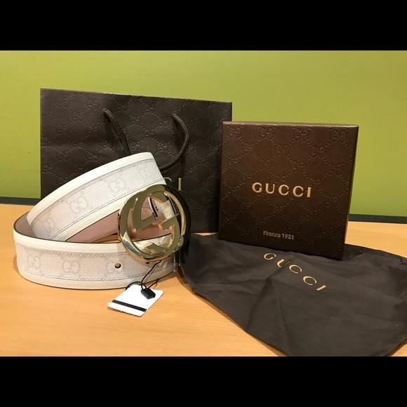 c23a8159c96 65% off Gucci Other - 💥 Authentic Men Gucci Belt White .