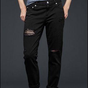 Girlfriend ripped jeans