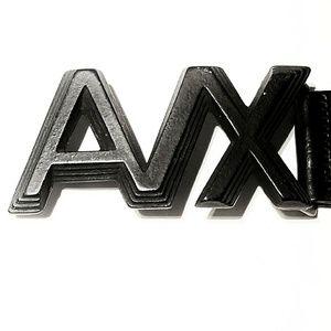 Armani Exchange Other - VTG 1980s Armani Exchange 3D Black Leather Belt