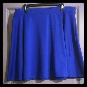 Forever 21 Dresses & Skirts - Royal blue skater skirt