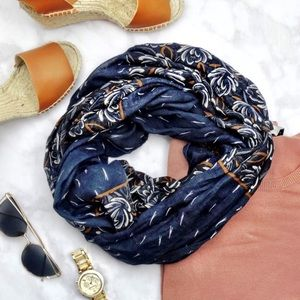 LOFT Accessories - Navy Floral Infinity Scarf
