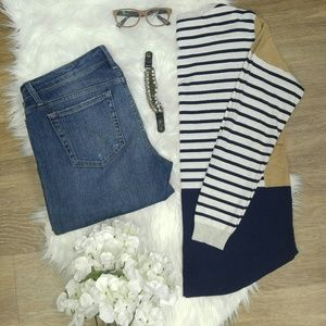 Oasis Sweaters - Oasis color block striped sweater