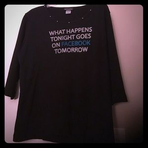 3/4 sleeve rhinestone shirt