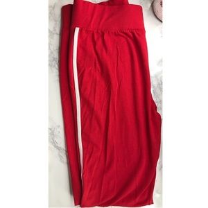ASOS Pants - ASOS Red Leggings - White Line on Side of Leg