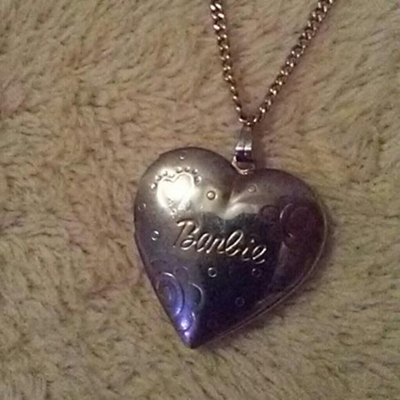 Barbie by Mattel Jewelry - Vintage Barbie gold heart locket necklsce