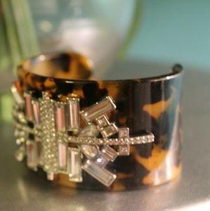 Lia Sophia Jewelry - Stunning Lia Sophia Art Deco Bling Cuff Bracelet