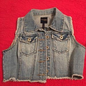 Highway Jeans Tops - Distressed jean vest