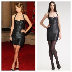 Z Spoke by Zac Posen Dresses & Skirts - Zac Posen Z Spoke Metallic Halter Black Dress Sz 6