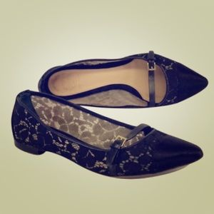 Tory Burch Shoes - BRAND NEW TORY BURCH BLACK AND CREAM LACE  FLAT