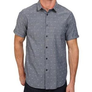 Howe Other - Howe Dark Sea short sleeve woven button up