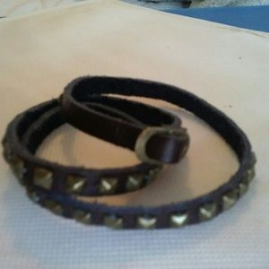 Nordstrom BP Jewelry - Brown Studded Wrap Bracelet
