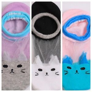 Accessories - 5for $25–1/$7, 2/$12, 3/$16-Sheer Kitty Cat Socks