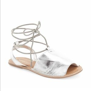 NEW sandals with ankle straps