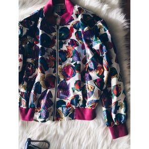 Vintage Jackets & Blazers - 24hr❗️Vintage 90s Fish Print Bomber Jacket SM