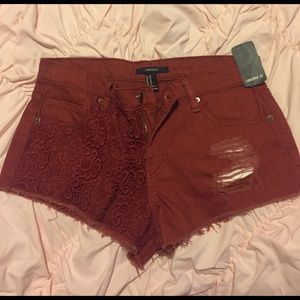 Forever21 size 28 high waisted shorts
