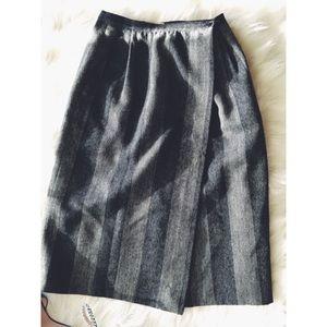 Vintage Dresses & Skirts - Vtg 80s Giorgio Armani High Waist Pencil Skirt 42