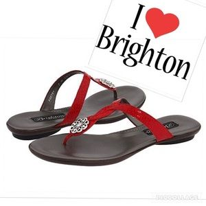 New Brighton Poetry Cherry Red Sandals size 8 1/2