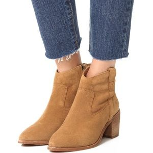Madewell Shoes - MADEWELL Lonnie boot in suede color: truffle