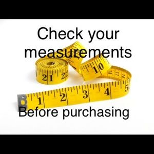 All My Clothes have Measurements!!!