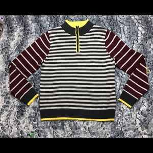 Hanna Andersson Other - Hanna Andersson Size 150 Striped 3/4 Zip Sweater