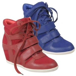 Glaze Shoes - Cobalt Blue Wedge Sneakers