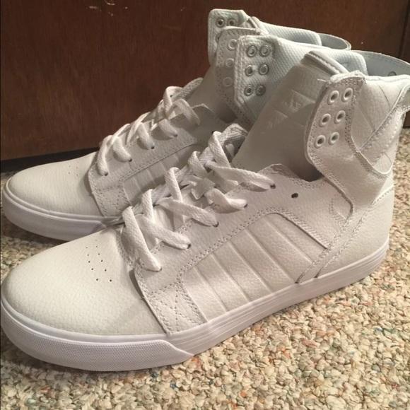 681964c6749 Supra Shoes | Skytop Chad Muska Mens White 105 | Poshmark