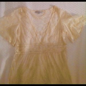 Blumarine Tops - S0 BEAUTIFUL! Sheer Lace Blouse gorgeous!