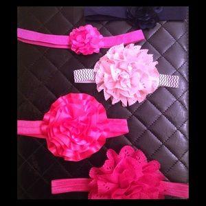 Other - Rosette Baby Girl Headband Bundle