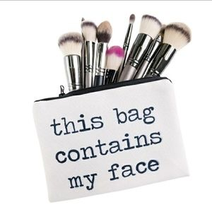 """October Love Handbags - 😱SALE!💄""""This bag contains my face"""" Cosmetic Bag!"""