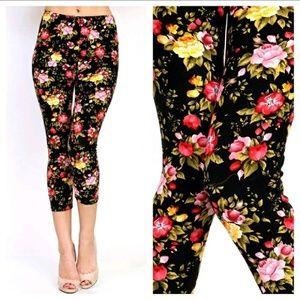 October Love Pants - 🌻Spring-Has-Sprung Floral Capri Leggings!💃💃