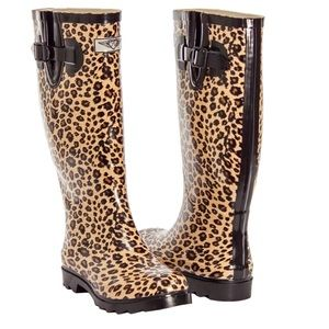 Forever Young Shoes - Women Animal Print Rubber Rainboots RB1402